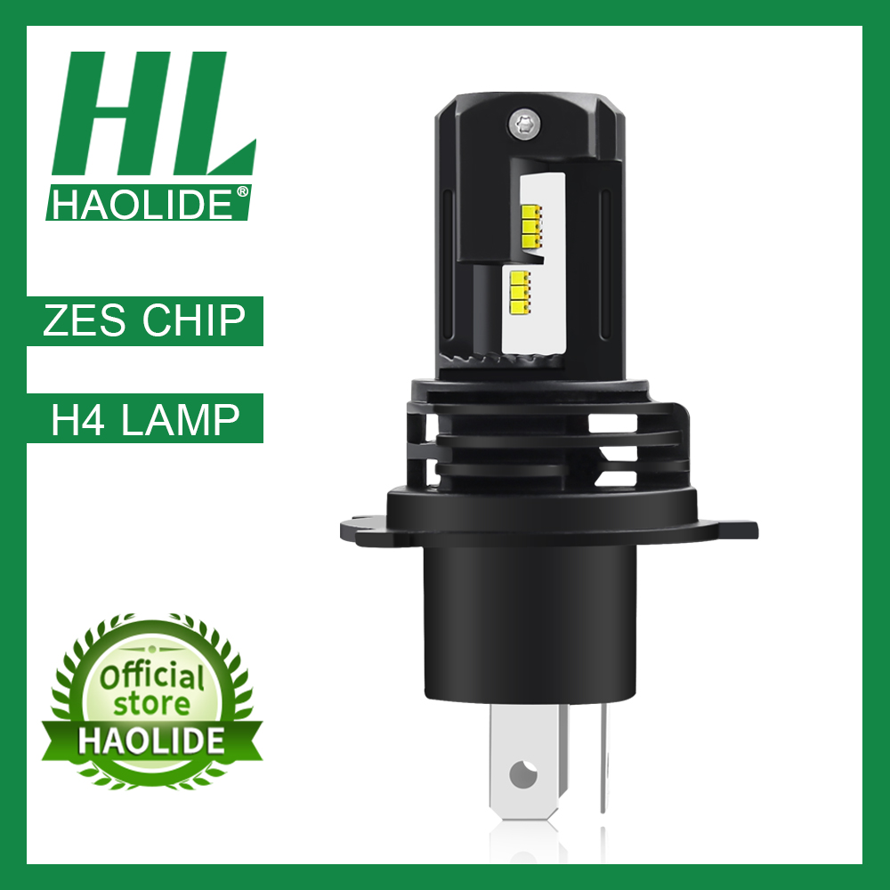 /HL LED H4 Motorcycle Headlight Bulb Moto Bulb Light Lamp 6500K LED Car Lamps Mini Size ZES Chips
