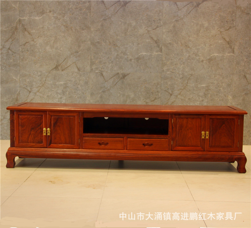 Mahogany Furniture Pterocarpus Erinaceus Poir. Tiger Jiao Television Cabinet Modern Minimalist Belt Takes New Chinese Style Livi