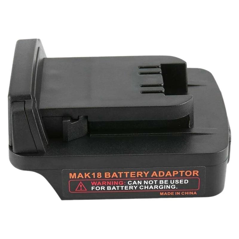 New Adapter For Milwaukee 18V Li-ion Battery Convert To Makita 18V Power Tools