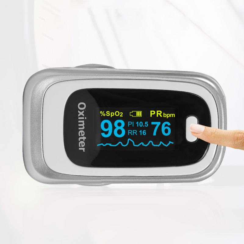 Portable Fingertip Pulse Oximeter Blood Oxygen Monitor PI Sleep Monitoring Heart Rate Detector Health Care Tool