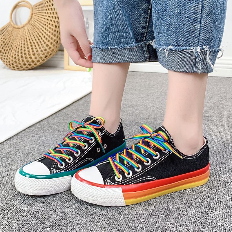 Women Athletic Shoes Outdoor Lace-up Woman Sports Shoe Students Canvas Shoe Breathable Skate Shoes Zapatos Mujer Women Sneakers