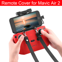Remote Controller Silicone Protector Cover with Strap Comb for DJI Mavic Air 2 RC Drone Accessories