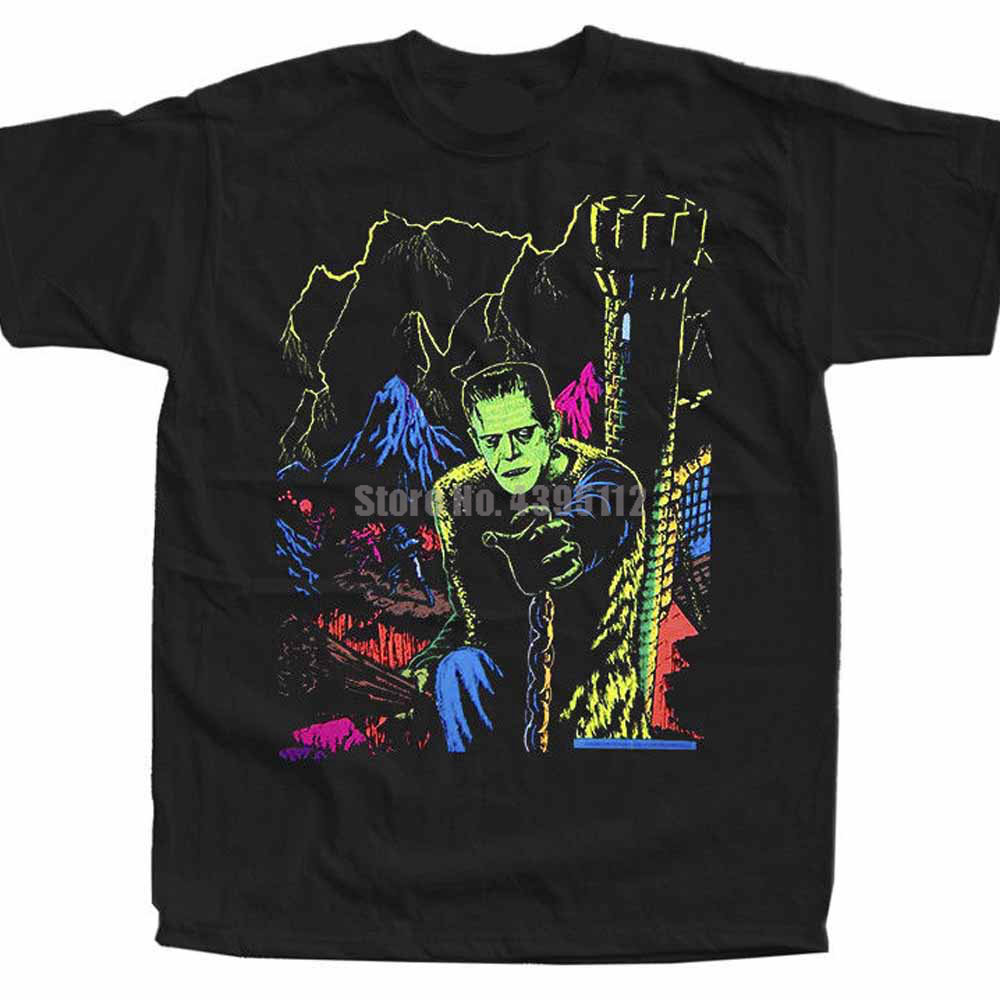 Frankenstein Movie Poster Unisex Horror T-Shirt Snus Tshirt Sports T-Shirt Stylish Tshirts Trend 2020 Mrnmgq image