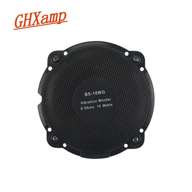 Głośnik wibracyjny GHXAMP 98MM niska częstotliwość wibrator muzyczny 8ohm 10W do dynamicznej gry elektronicznej poduszka do masażu kina domowego 1PC