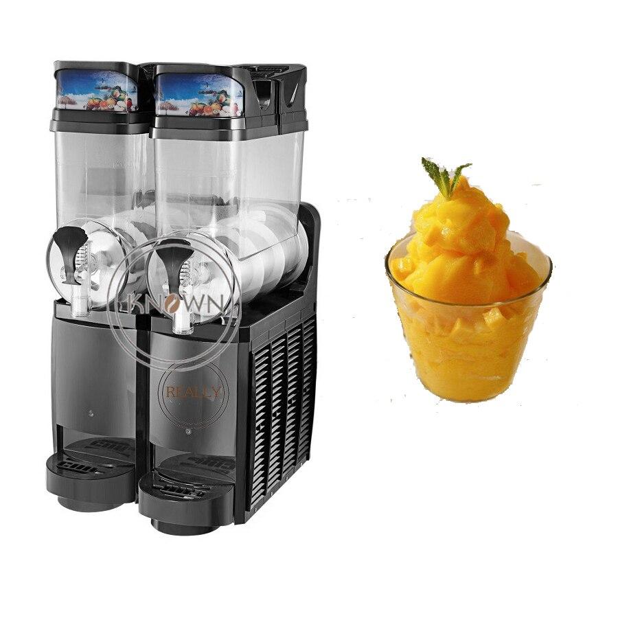 Hot Selling Commercial Summer Popular Slush Ice Machine Snow Melting Machine Two Double Tank For Sale Ice Slush Maker Machine