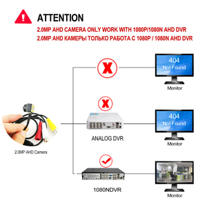 Image 5 - 200W HD 1080P AHD kamera mikro Mini CCTV gözetim kameraları AHD DVR güvenlik sistemi