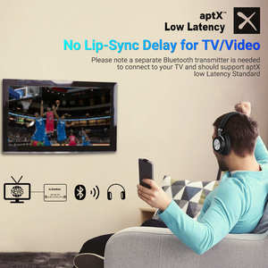 Image 5 - ใหม่ Langsdom BT30 aptX LOW LATENCY Wireless หูฟังบลูทูธ aptX HD 5.0 ชุดหูฟังสำหรับเล่นเกมเบส fone de ouvido สำหรับทีวี PC PUBG