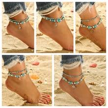 Bohemia Turtle/Elephant/Shell/Starfish Pendant Anklets Bracelet for Leg for Women Sexy Beads Summer Beach Shell Men Anklet цена