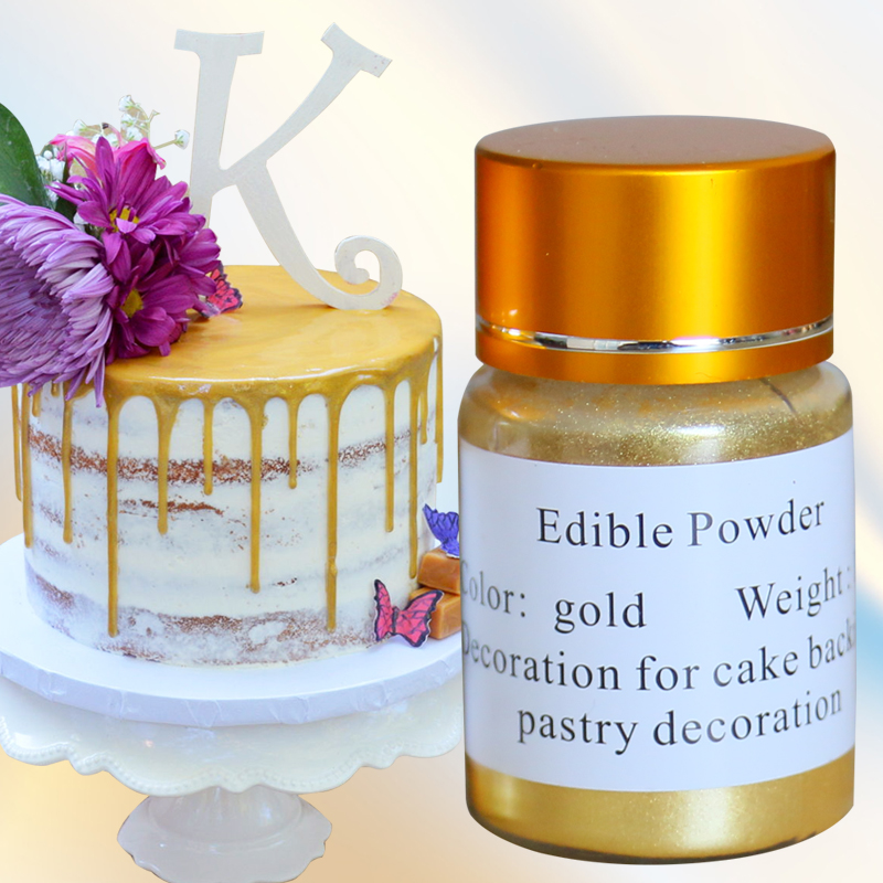US $6.55 31% OFF|Edible Gold Powder Cake Decoration Pigment Edible Glitter  Food Coloring for Baking Fondant Chocolate Arts Edible Food Dust 10g-in ...