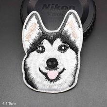 Husky köpek demir köpek ucuz işlemeli nakış elbise yama giyim için kot sırt çantaları kız erkek giysileri çıkartmalar