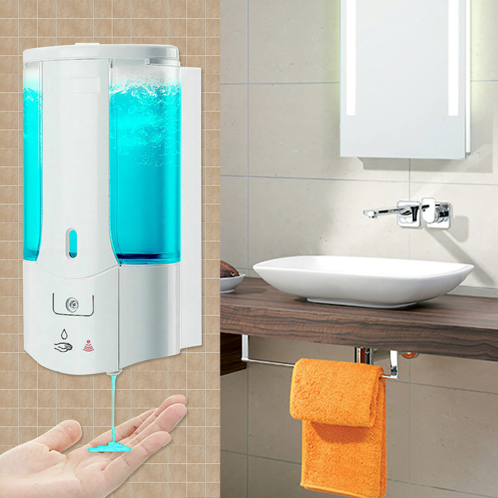 450mL Wall Mounted Automatic Soap Dispenser	Infrared Induction Smart Liquid Soap Dispenser For Kitchen Bathroom Accessory