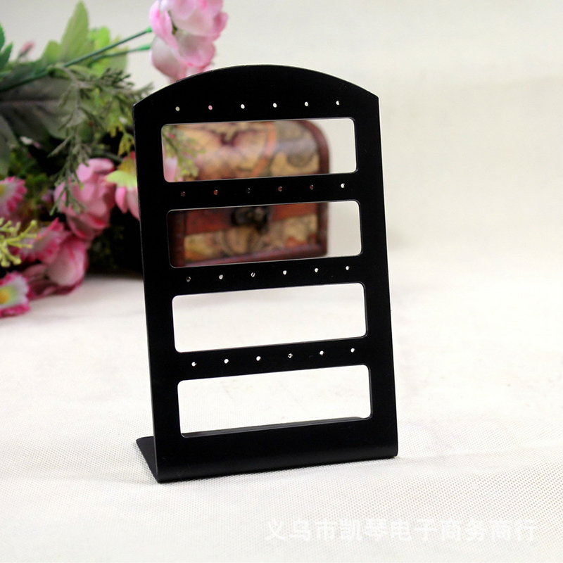 Earrings Display Holder Stand Black 24 Holes Acrylic Rack Stand Fashion Storing Displaying Jewelry Organizer Display Holder