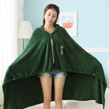 Attack on Titan Blanket Cloak Shingeki No Kyojin Survey Corps Cloak Cape Flannel Cosplay Costume Hoodie with real photos 2