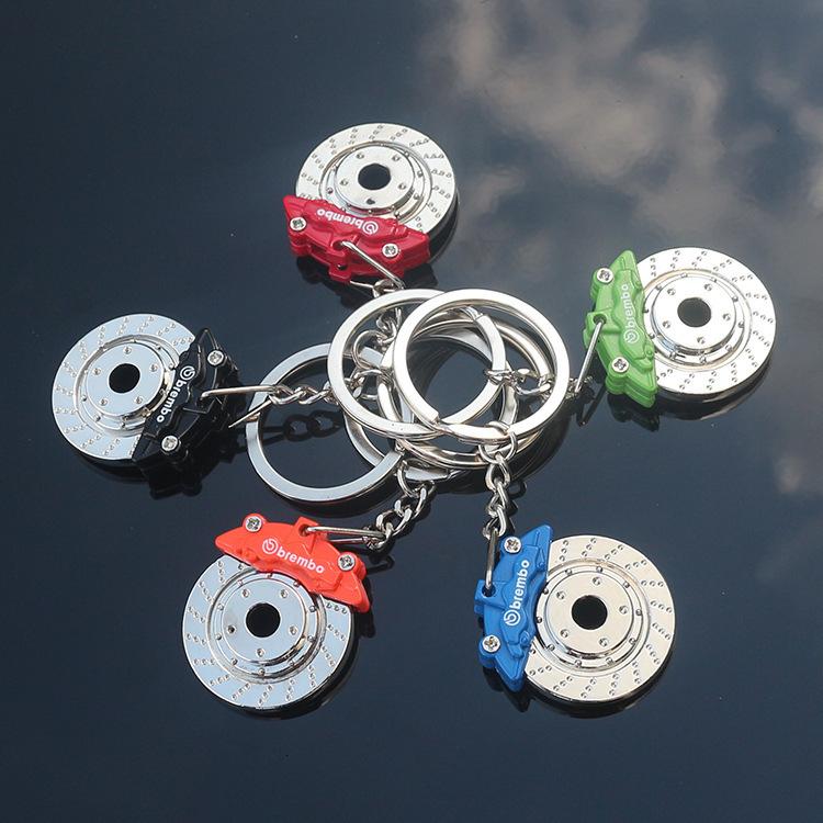 Originality Gift Brake Disc Hub Caliper Metal Key Brake Waist Suspension With Buckle Disc Key Ring Chain Pendant Double LOGO