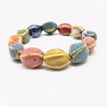 Fashion Women Colorful Ceramic Beaded Charm Bracelet Hot Sale Bohemia Accessory Jewelry Gift for