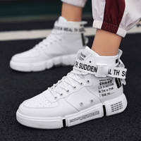 Trend Hot Sale Men's Fashion Casual Shoes High Top Sneaker 2019 Spring New Men Shoes High Quality Non slip Walking Shoe Zapatill