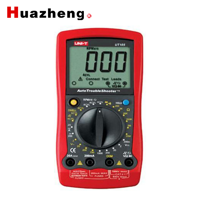 UNI-T <font><b>UT105</b></font> Handheld Automotive Multi-Purpose Meters & Auto Range Digital Multimeter AC/DC Voltmeter Tester image