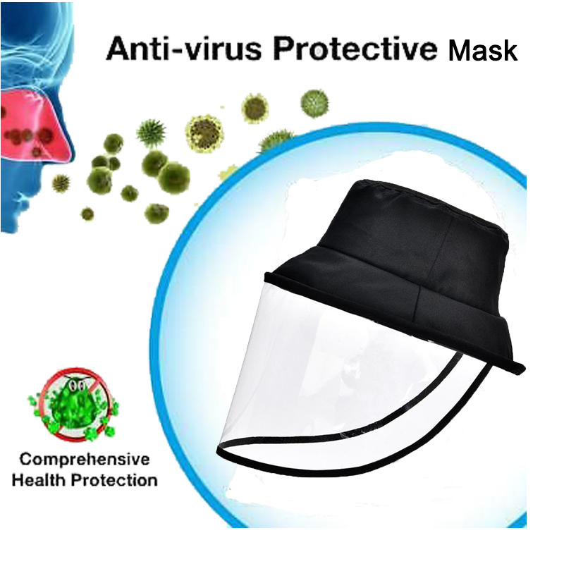 Stop Virus Anti-fog Face Mouth Mask Bucket Hat Mask Anti-Spitting Splash Prevents Saliva Transmission Windproof Sand Mask