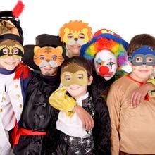 15Pcs Kids Animal Felt Masks Wild Theme Birthday Party Favors Children Costumes Dress-Up Props Decoration Supplies