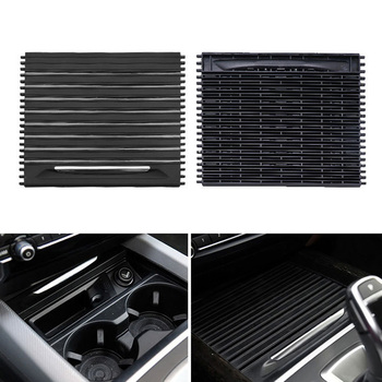 Sliding Cup Holder Cover Roller Blind For BMW X5F15 X6F16 Black Parts Car Auto