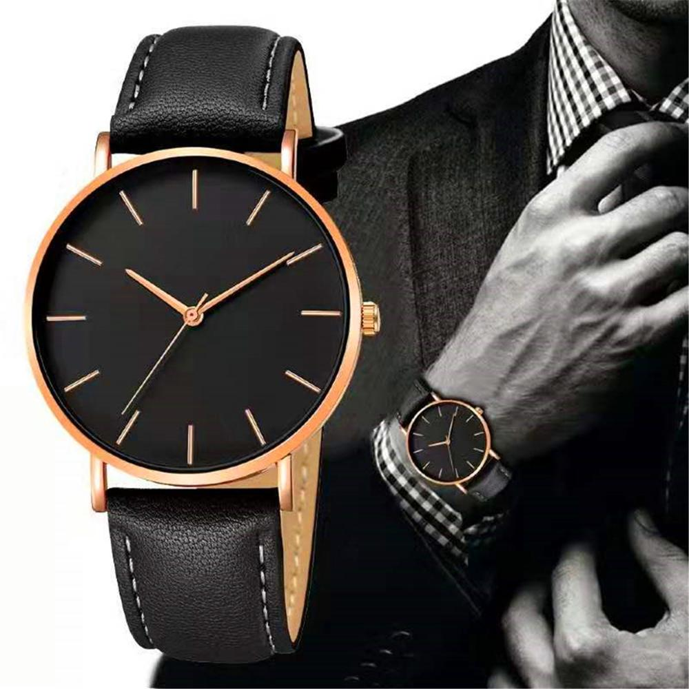 Luxury Watch Men Ultra-thin Leather Band Quartz Wrist Watch Male Clock Reloj Hombre Relogio Masculino Men's Quartz Casual Watch