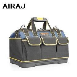 Airaj 2020 atualizar ferramenta saco 13/15/17/19/23 em eletricista saco 1680d oxford resistente ao desgaste à prova dwaterproof água forte ferramenta de armazenamento toolkit
