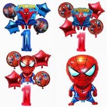 6 pièces/ensemble Héros Araignée homme Feuille D'hélium Ballons 32 Pouces Numéro Garçon Fête D'anniversaire Gonflable Décoration De Fête Enfants Jouet Air Globos