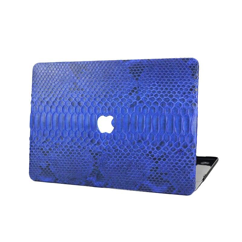 Peau de Python bleu ordinateur portable étui pour macbook Air Retina 12