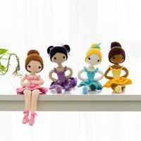 2019 cute 100% hand knitted crochet wool ballet beauty girl doll child baby best gift toy accessories (finished product)