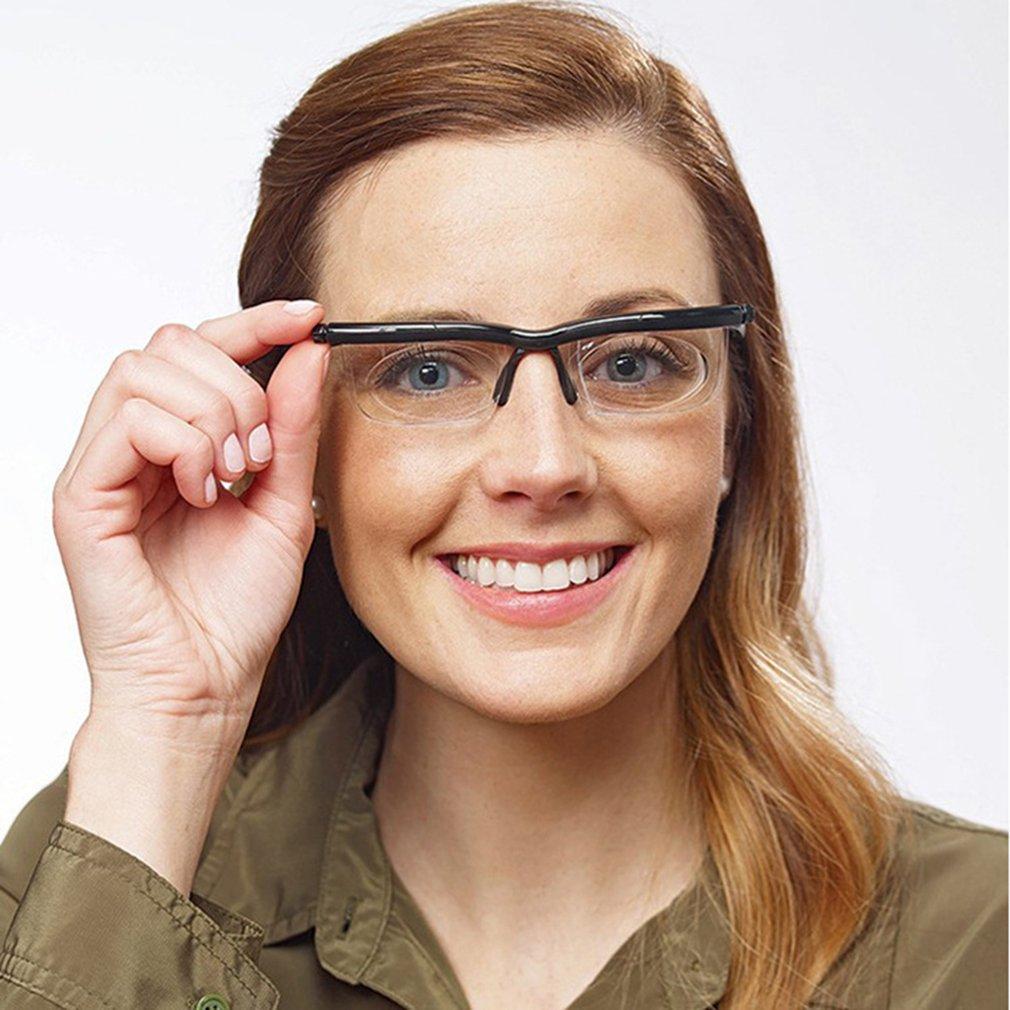 NEW Lens Flexible Frame Adjustable Nose Pad Adjustable Degree Glasses Universal Focal Length Correction Myopia Reading Glasses