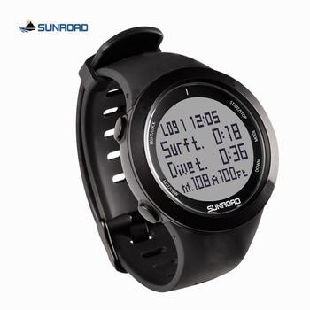 SUNROAD scuba diving digital sports watch computer safety depth 100M waterproof military compass altitude pedometer men women oceanic geo2 diving computer