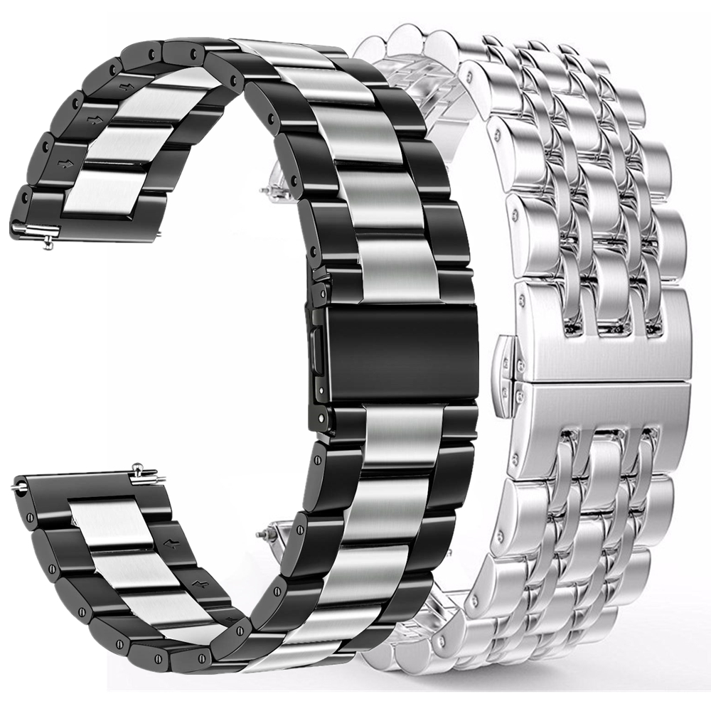 2 Pack 22mm Bands For Samsung Galaxy Watch 46mm Galaxy Gear S3 Eplacement Bracelet 20mm Pulseira For Active 2 TicWatch E Strap