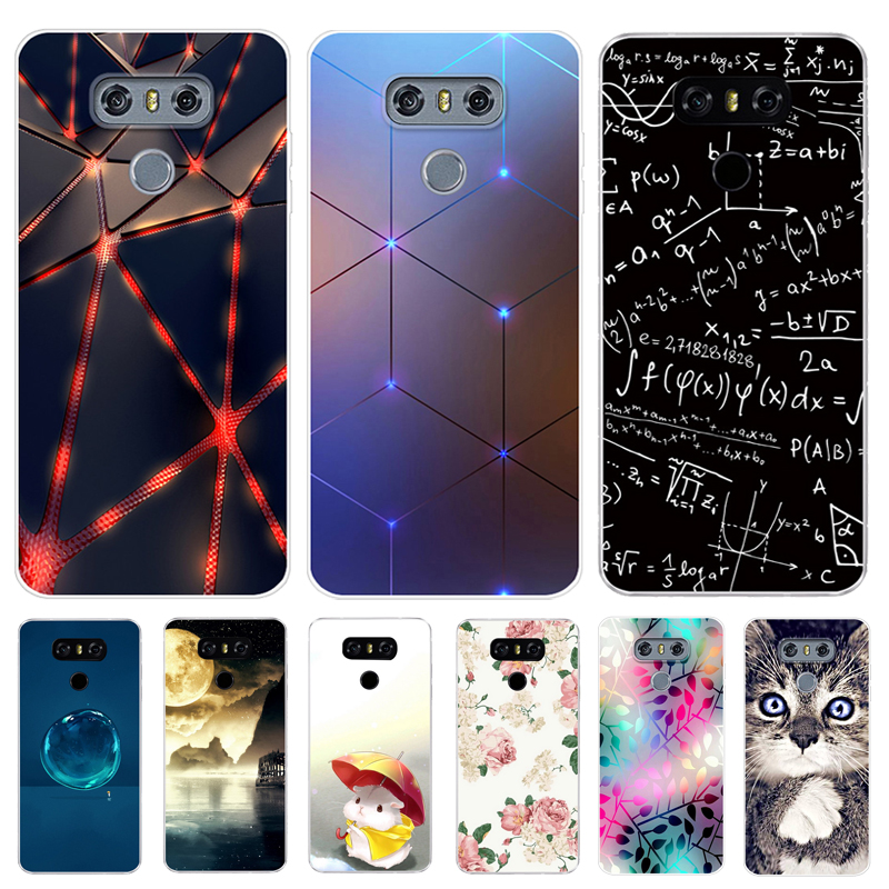 For LG G6 Case Cover 5.7 Clear Printing Soft TPU Back Cover For LG6 LGG6 G 6 H870DS H870 Silicone Fundas G3 G4 G5 Phone Cases image