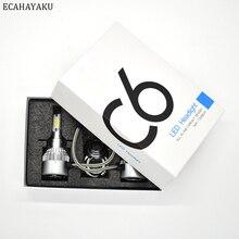 ECAHAYAKU C6 All-in-one Car LED Headlight bulbs 6000K 72W/kit H1 H3 H4 H7 H11 HB3 HB4 9007 H13 H27 for SUV ATV DRIVING Fog