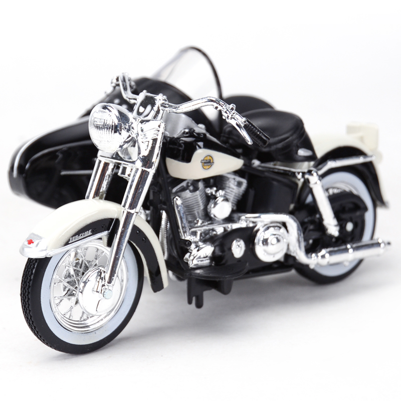 Maisto 1:18 1958 FLH Duo Glide Motorcycle sidecar Diecast Alloy Motorcycle Model Toy