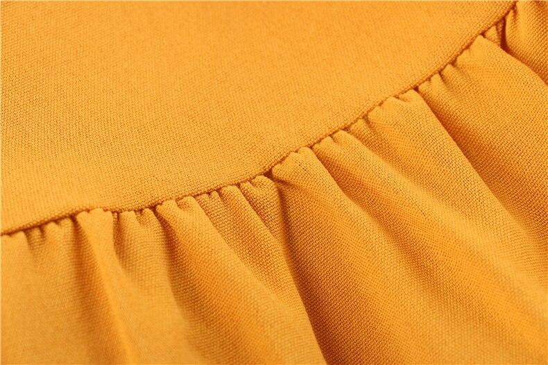 Ruffle Off Shoulder High Waist V Neck Casual Boho Beach Yellow Dress 10