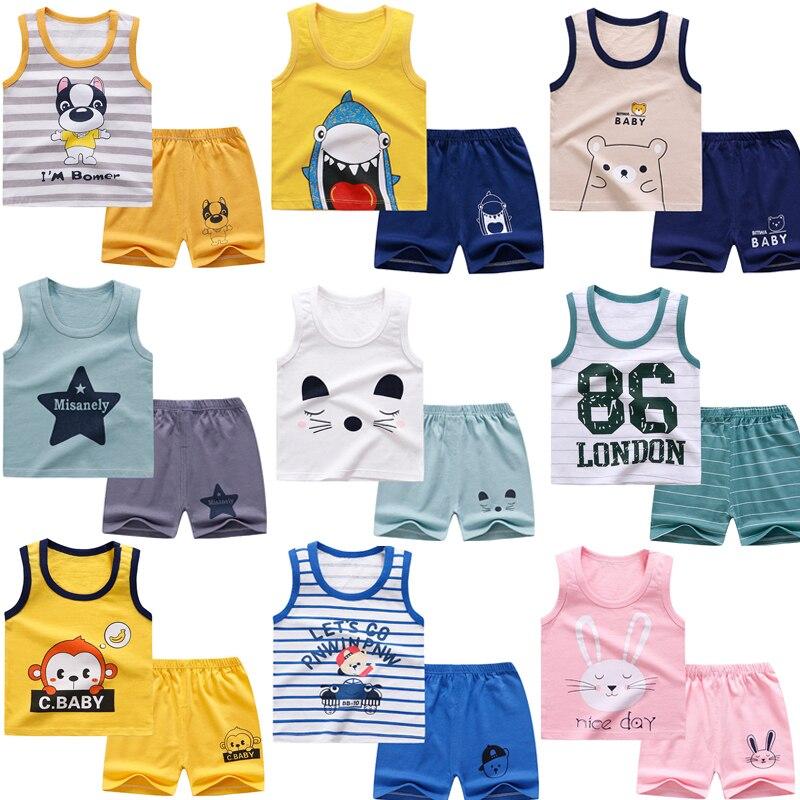 Crianças camiseta roupas da criança meninos dos desenhos animados roupas do bebê meninas meninos verão camisetas ternos bonito crianças roupas camiseta + shorts