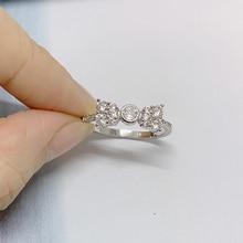ZHOUYANG кольца для женщин, роскошные свадебные кольца с бантом и кубическим цирконием серебряного цвета, обручальное кольцо на палец, модное ювелирное изделие KCR226