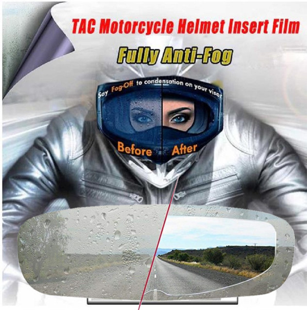 Helmet Clear  Anti-Fog patch film Universal Motorcycle Helmet Lens Fog Resistant Films for K3 K4 AX8 MT Helmets 2