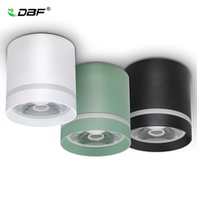 [Dbf] マカロン表面実装ダウンライト調光対応 7 ワット 10 ワット 12 ワット led シーリングスポットライト AC110/220 用キッチン、リビングルームのインテリア