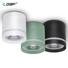 [Dbf] macaroon superfície montada downlight pode ser escurecido 7w 10 12w conduziu a luz do ponto de teto ac110/220v para a decoração da sala de estar da cozinha