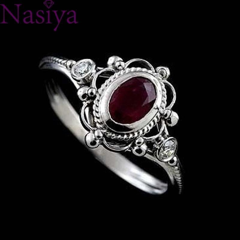 Предложение для помолвки, кольцо, рубин, тайское серебро 925 пробы, серебро, драгоценный камень, кольца, юбилей, свадьба, подарок