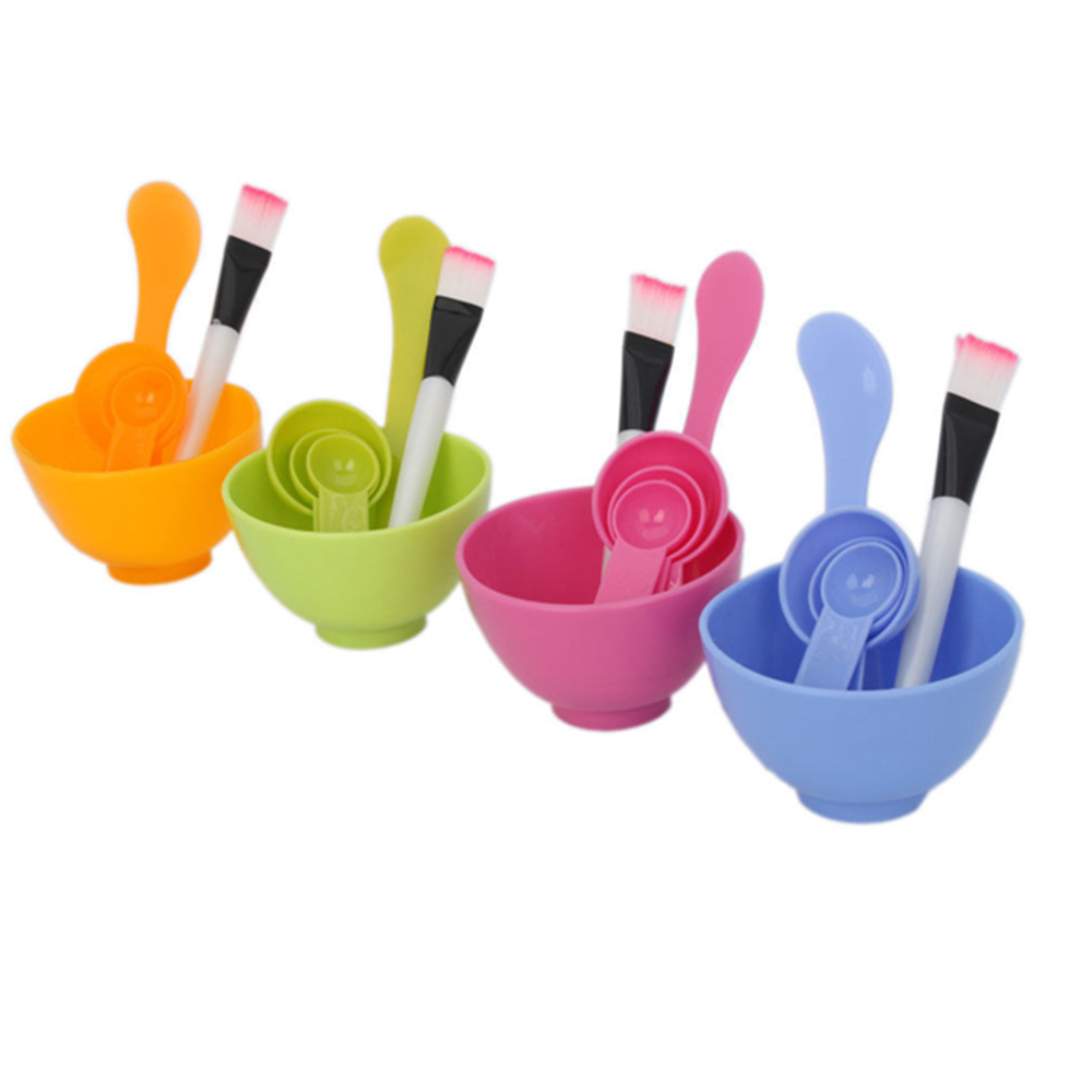 6 In1 Colorful Face Mask Bowl Set Women Makeup Beauty Tool DIY Face Mask Bowl Brush Spoon Stick Beauty Cosmetic Makeup Tool