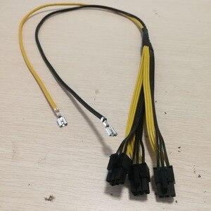 Image 1 - S7 a Triple 3X PCI E PCIe PCI Express 6Pin GPU tarjeta gráfica Splitter Cable de alimentación para máquina de minería BTC Bitcoin Litecoin