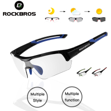 ROCKBROS Photochromic Cycling Sunglasses Polarized Cycling Glasses Outdoor Sports MTB Bicycle Bike Sunglasses Bike Eyewear купить недорого в Москве