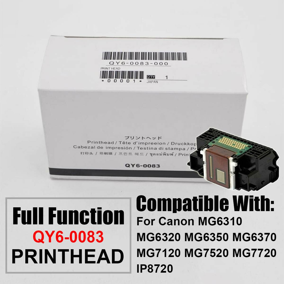NEW 1Pcs Printhead Print Head Printer Parts For Canon QY6-0083-000 MG6320 MG7120 MG7520 MG7720 IP8720