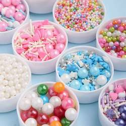 120g Edible Sugar Candy Sprinkles Golden Bead Cake Decorating Baking Tools Food Coloring for Lollipop Chocolate Fondant Macarons