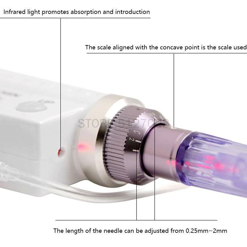 Купить 2 в 1 гидравлический инжектор дерма ручка нано мезотерапия мезогун
