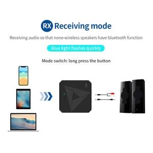 Image 2 - Odbiornik Bluetooth 5.0 nadajnik 3.5mm AUX Jack muzyka bezprzewodowy Adapter Audio połączenie bezprzewodowe i mikrofon NFC zestaw samochodowy do telewizora Auto ON