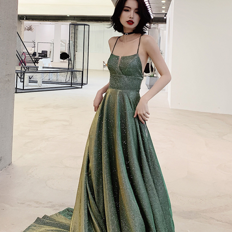 2019 Limited Celebrity Dresses Trill With A Fairy's Evening Dress 2020 Long Banquet Temperament Noble Host Fashion Dream Girl